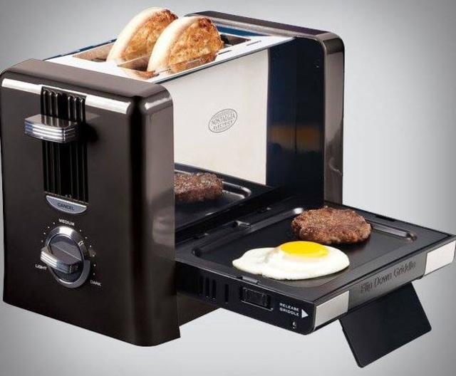flip down breakfast toaster