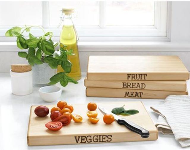 Hand-Stamped Cutting Board