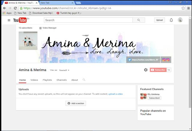 Follow us on youtube: Amina & Merima