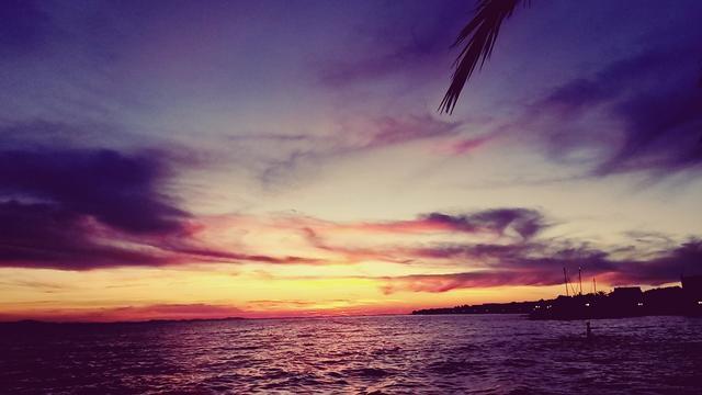 #purple #pink #blue #yellow #sea #view #sunset