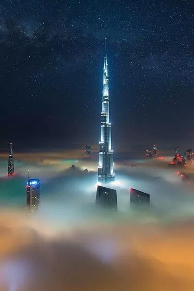 Fog,Dubai,Night