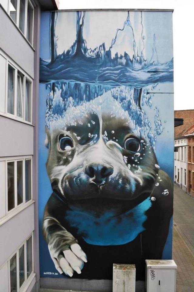streetart dog