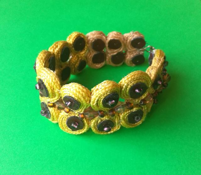 Yellow Unisex Hippie Bracelet