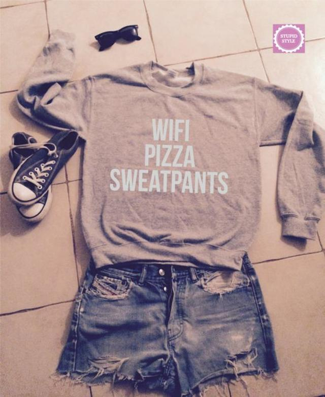 wifi pizza sweatpants