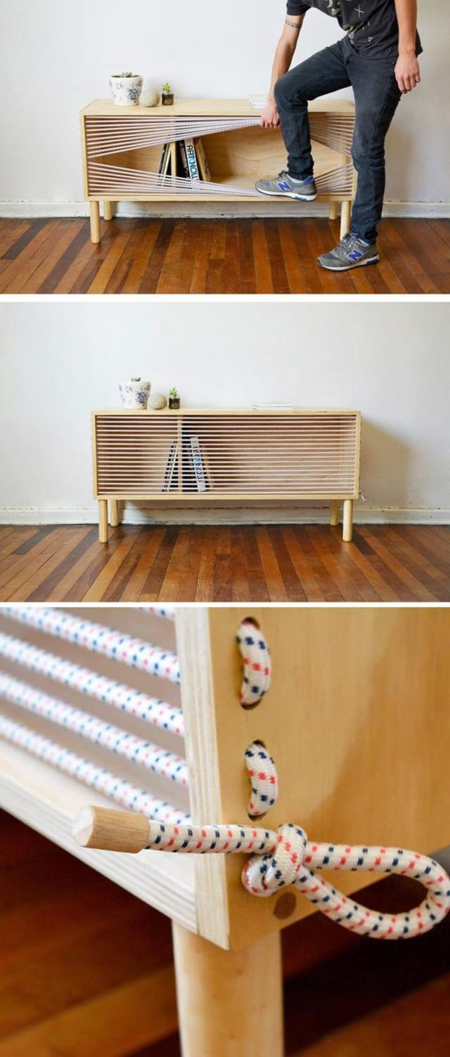 wooden sideboard by Designer Emmanuel Gonzalez Guzman
