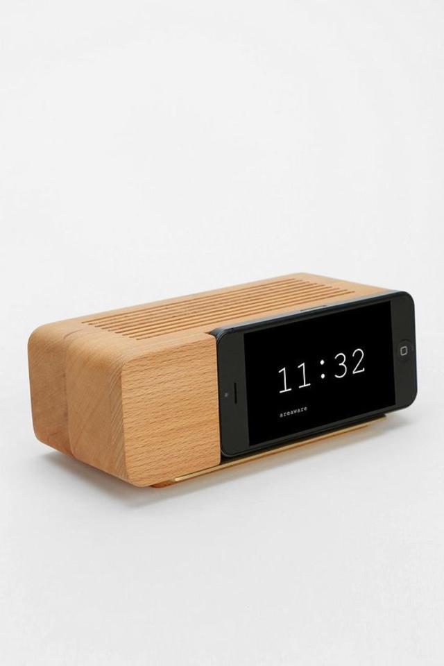 Superb Alarm Clock Dock Wooden IPhone