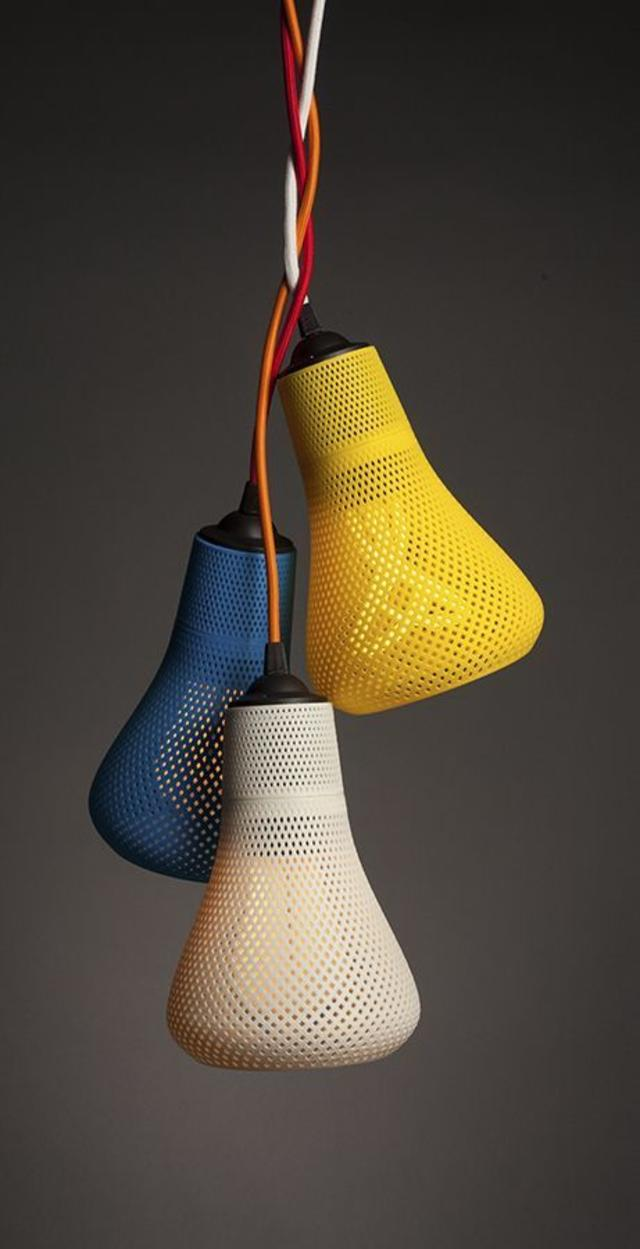 3D printed lamp shades by Plumen
