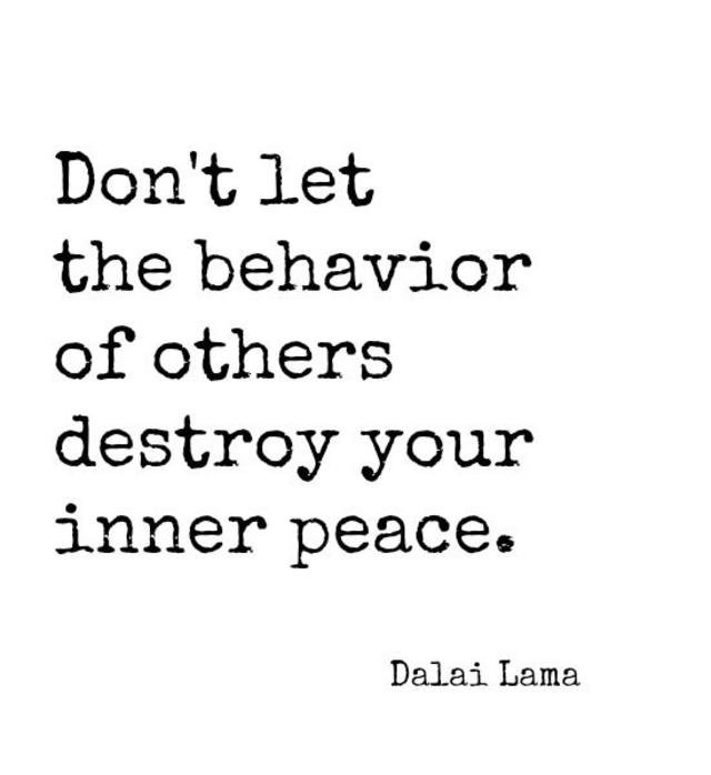 Dont Let Behavior of Others Destroy Your Inner Peace