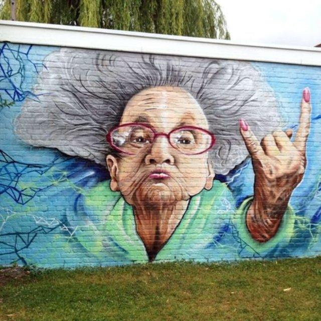 Grandma Rocks by @_smok_ in Edegem