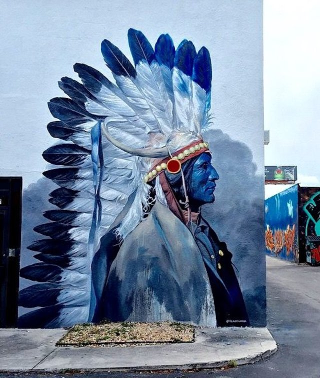 Indian Reinier Gamboa - Miami streetart
