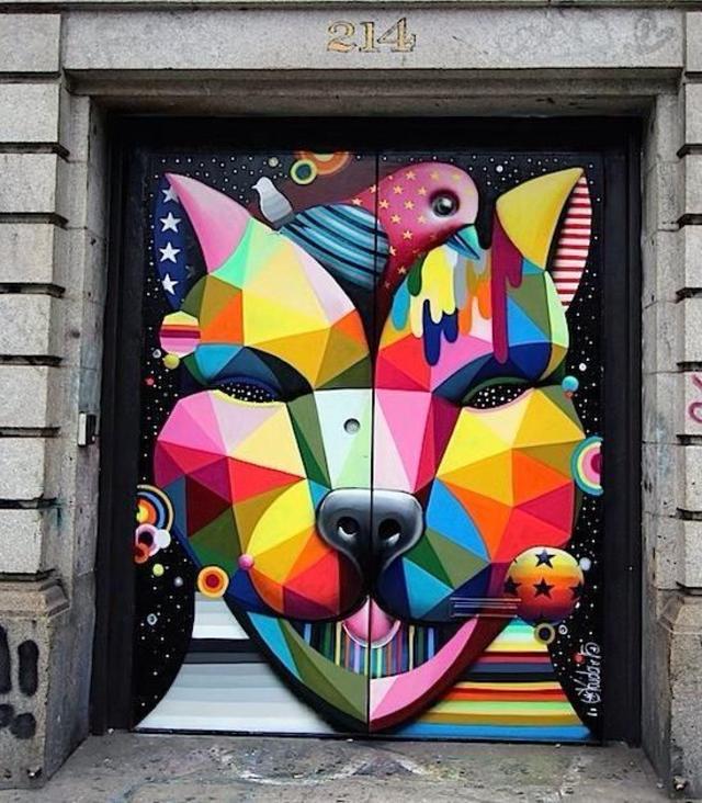 Street Art by OKUDART in Soho, NY
