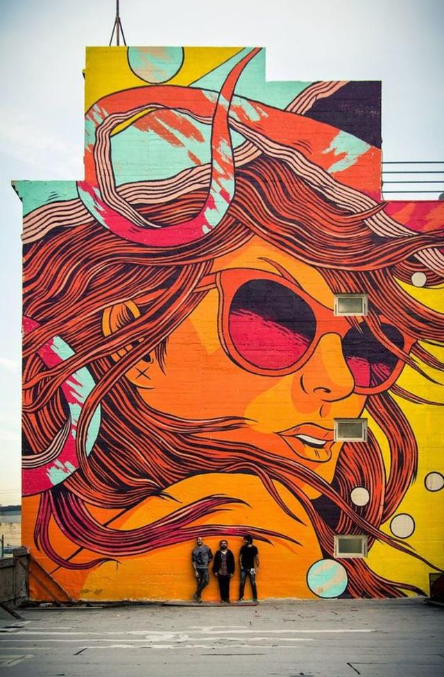 Bicicleta Sem Freio New Mural - Los Angeles, USA