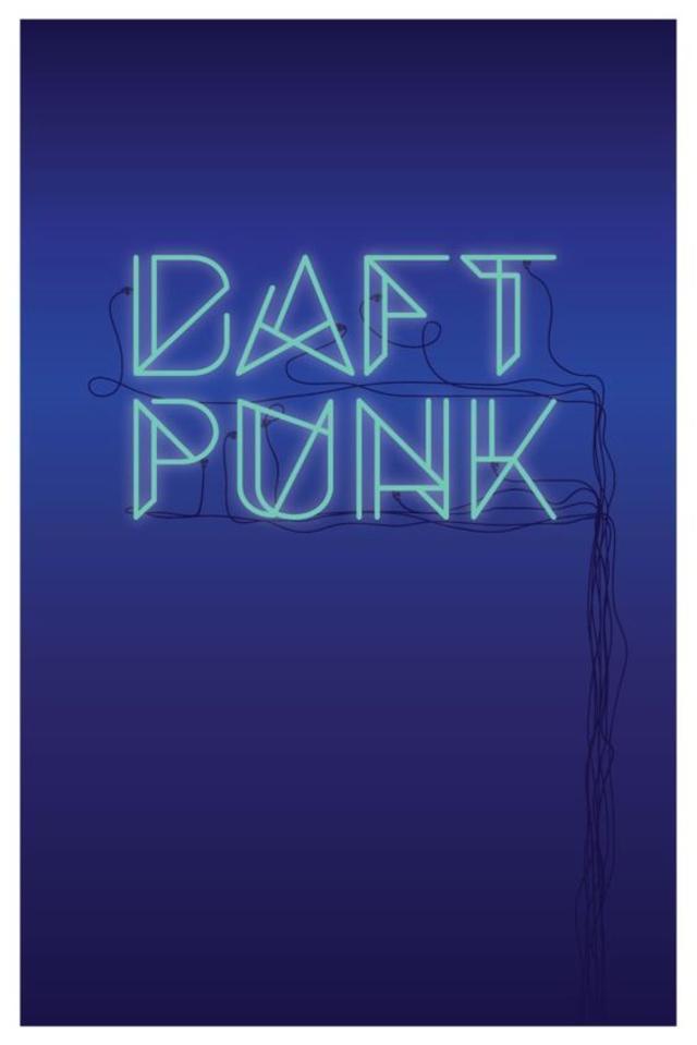 Daft Punk Music Poster