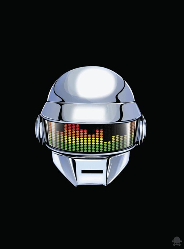 Gif of Daft Punks Helmet