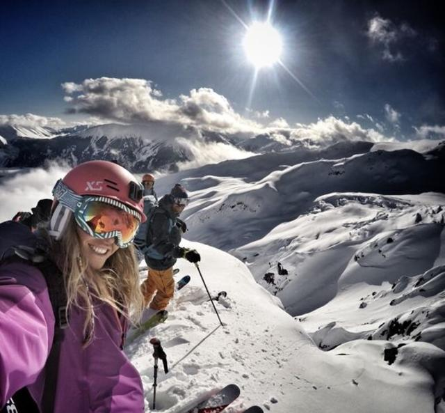 Mountain top selfie from Lynsey Dyer