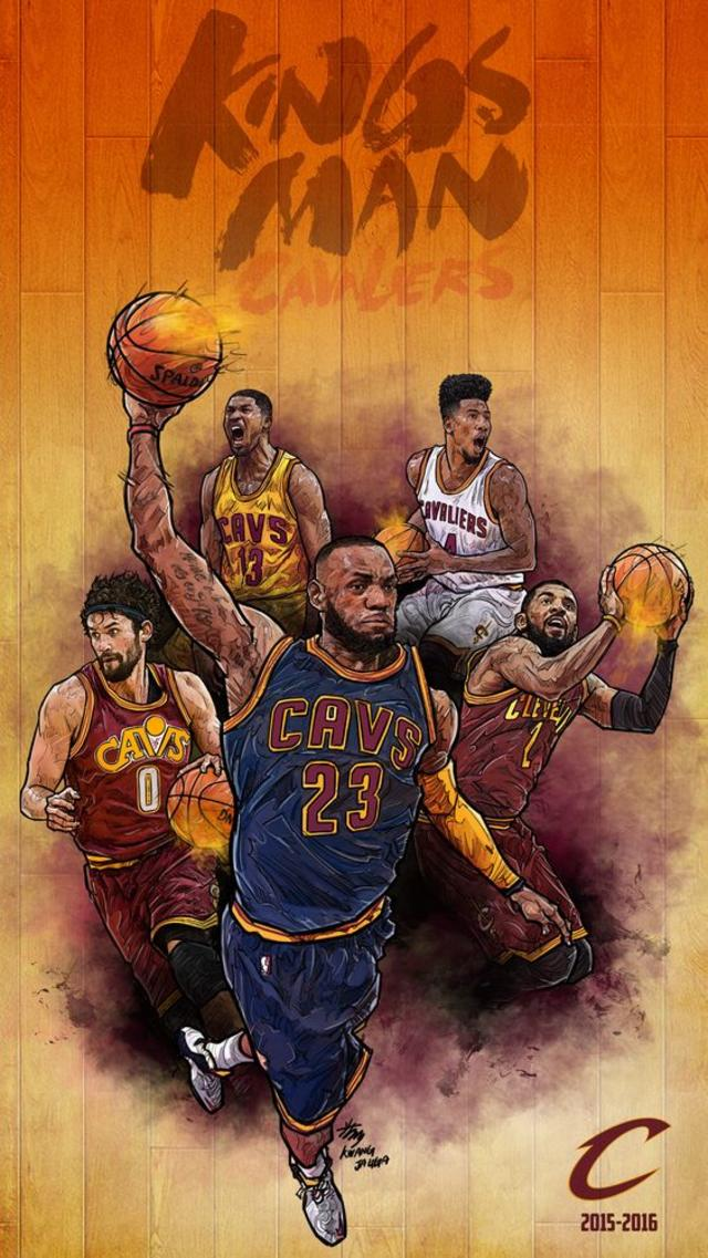 Cavs - NBA Phone Wallpaper - Artist - Kim MinSuk