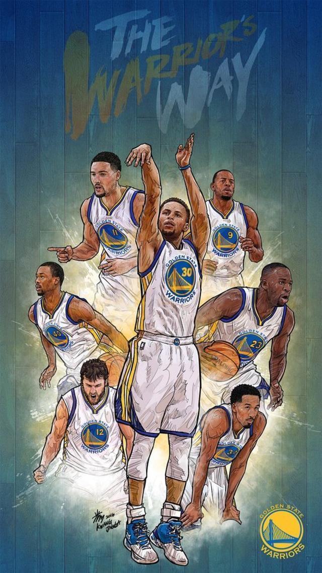 The Warriors way NBA Phone Wallpaper - Artist Kim MinSuk