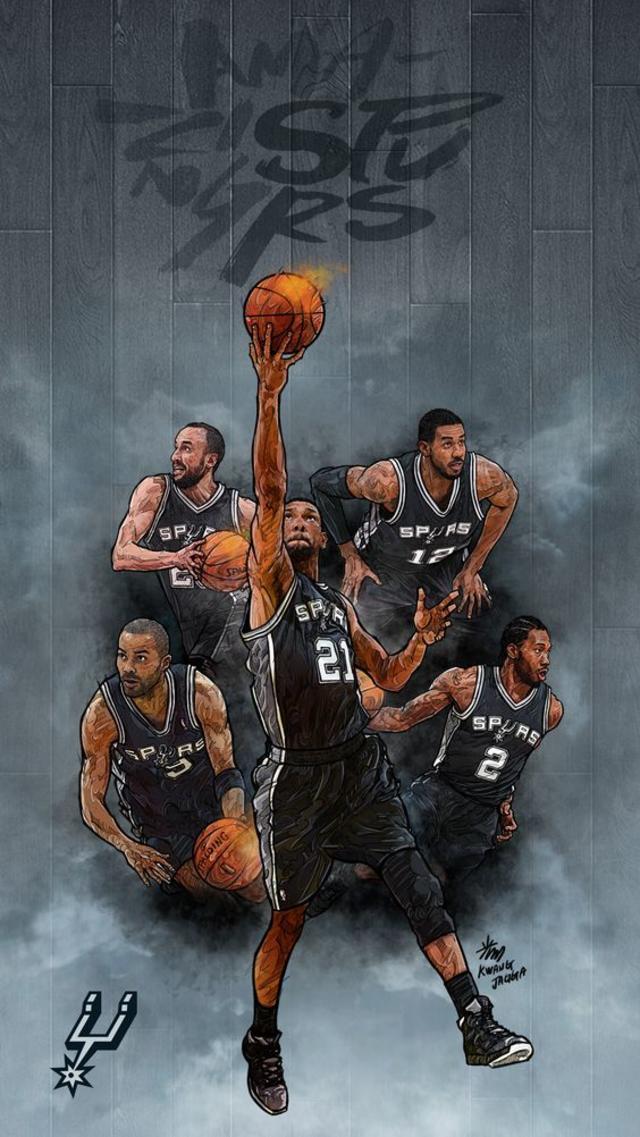 Spurs -NBA Phone Wallpaper - Artist - Kim MinSuk