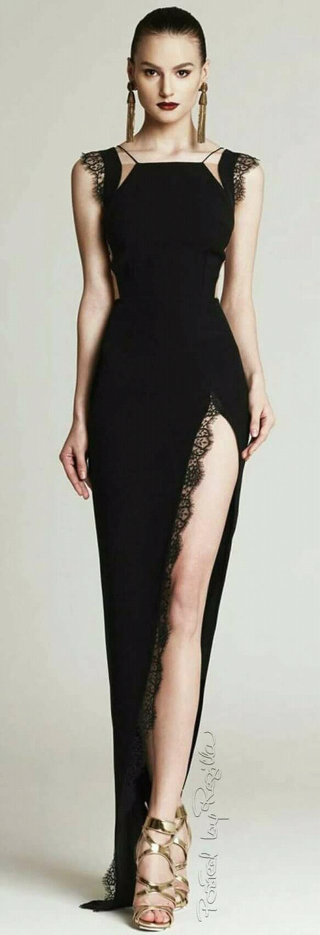 #Gown #blackdress