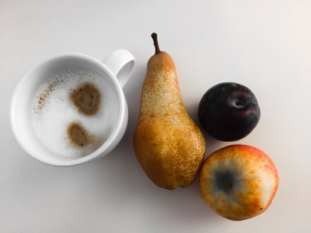 #Coffee & #fruits