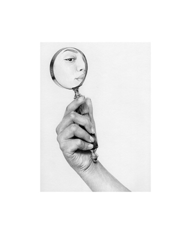 hand mirror sketch. ART ILLUSTRATION GIF BY TS_ABE #art #illustration #drawing #image #mirror # Hand Mirror Sketch U