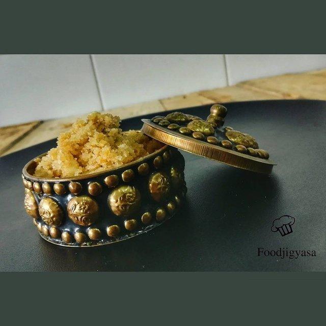 baati churma a dessert from Indian desert region ( Rajasthan)